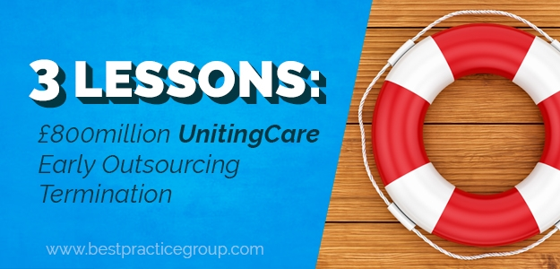 3 Lessons: £800million Unitingcare Early Outsourcing Termination